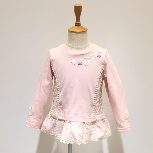 【SALE】Souris チュニックTシャツ(116/ピンク) 90-130cm