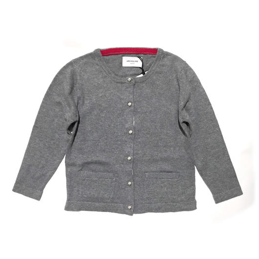 【ARCH&LINE】KNIT CARDIGAN SOLID(MG GRAY)85-150cm