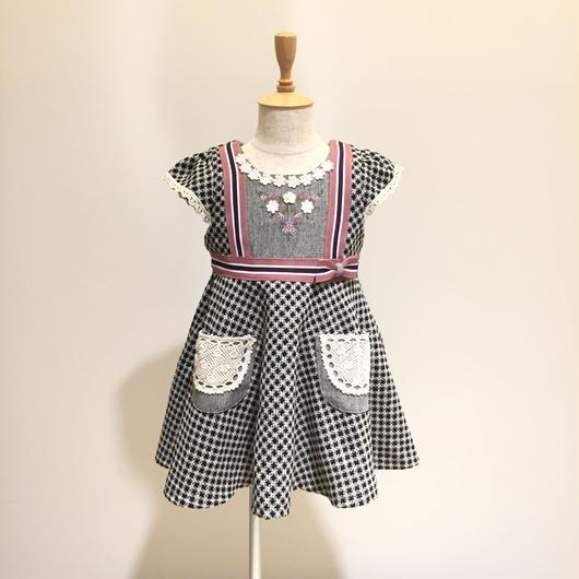 【Souris 】  レトロドビージャンパースカート(511/ブラック)90-120cm