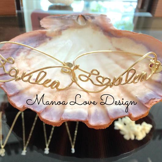 Manoa Love Design/ Laulea(ハワイ語 幸せ)ブレスレット