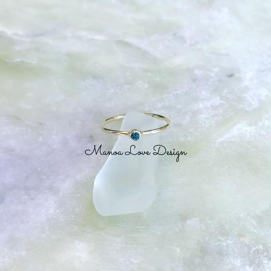2.0mmブルーダイヤモンドリング
