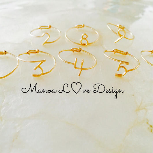 Manoa L♡ve Design/14K gf ナンバーリング