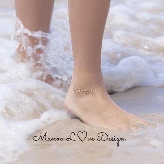 Manoa Love Design/14K  カスタムワイヤーネームアンクレット