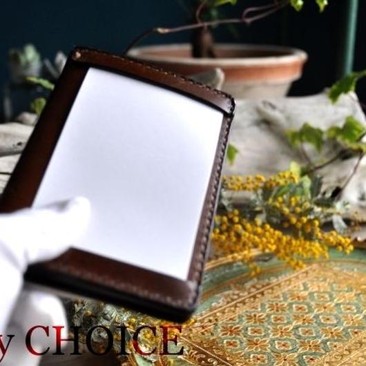 革の宝石ルガトー・ジョッターケース (5×3サイズ)(茶)