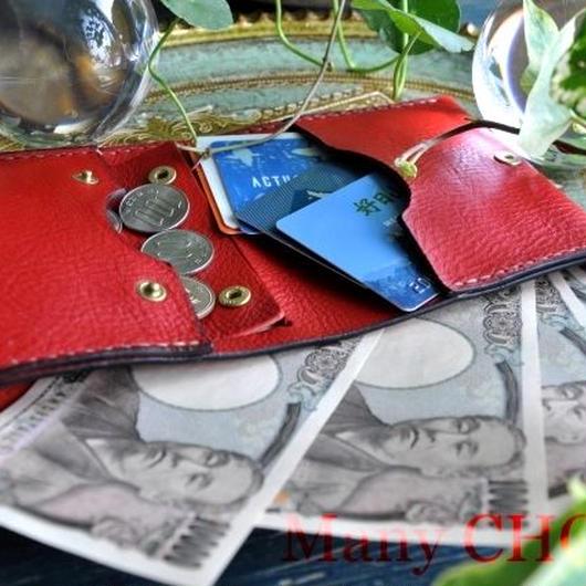 イタリアンオイルレザーアリゾナ・コンパクト2つ折り財布(マルボロ)