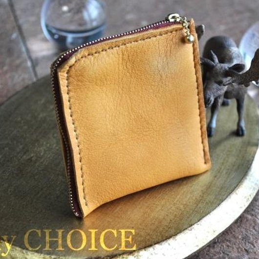 やみつきエルクのL型財布(黄茶)