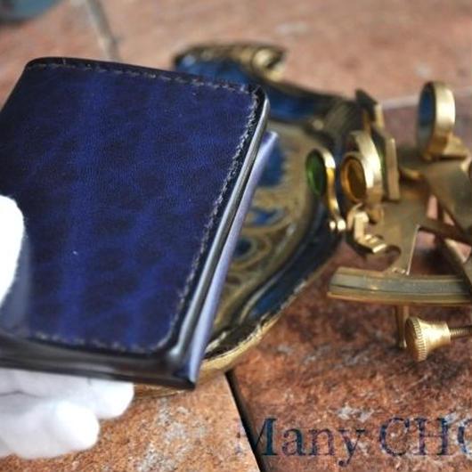 革の宝石・ルガトー・名刺入れ(紺)      革の宝石・ルガトー・名刺入れ(紺)