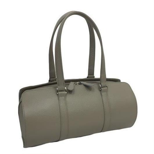 オール牛革 本革バッグ 筒型 ボストンバッグ 軽量 リアル シュリンクレザー