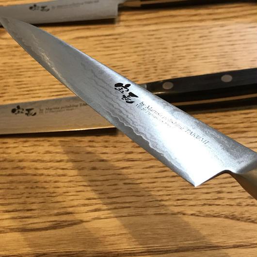 美濃 英一作 ダマスカス鋼VG-10 ペティナイフ150mm