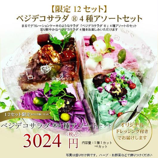 ベジデコサラダ®4種アソートセット(注文後3営業日以内に発送)