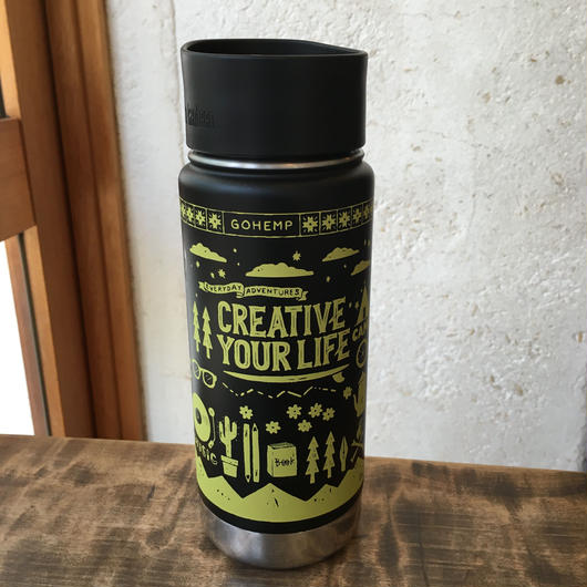 "kanteen Bottle ""CREATIVE YOUR LIFE"" GOHEMP×KTCN(BLACK)"