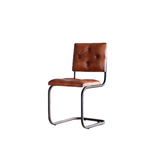 Iron Leather industrial Chair「BRED」 2pcs set
