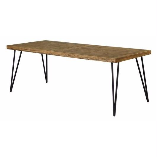 2200 Vintage wood Iron Dining Table 「OSLO」