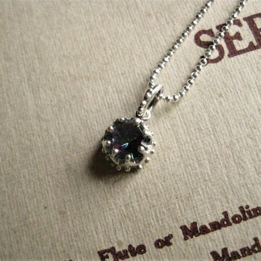 Milk Crown Necklace -Mystic Quartz- 6mm