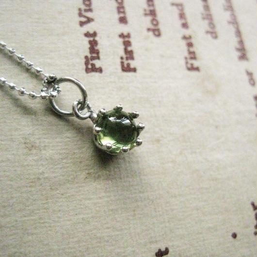 Milk Clown Necklace 5mm-Peridot-