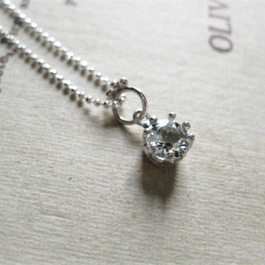 Milk Crown Necklace -アクアマリン -