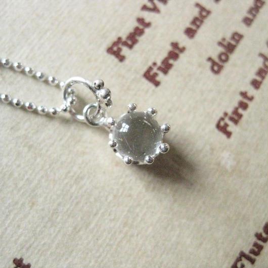 New!Milk Crown Necklace -白水晶-