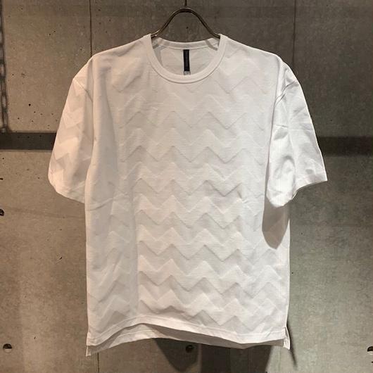 【Custom Culture】リンクスBIGヘリンボーン Tシャツ ホワイト