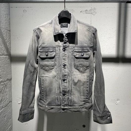 【Custom Culture】11ozストレッチデニムジャケット ライトグレー