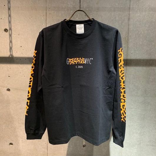 【GOTHAM NYC】ロングTシャツ(レオパード) ブラック