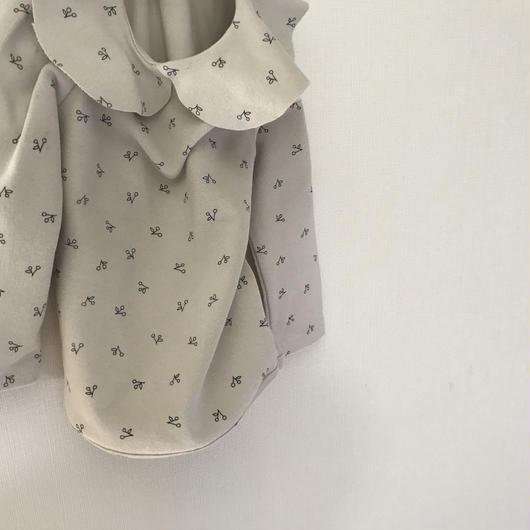 cherry  frill  blouse