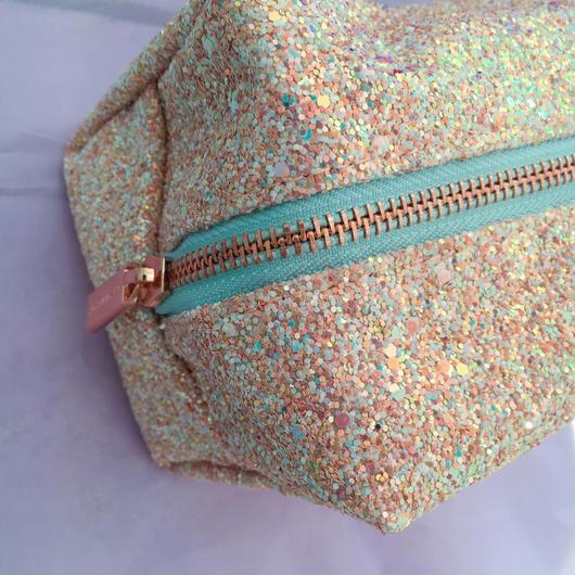 pink glitter pouch