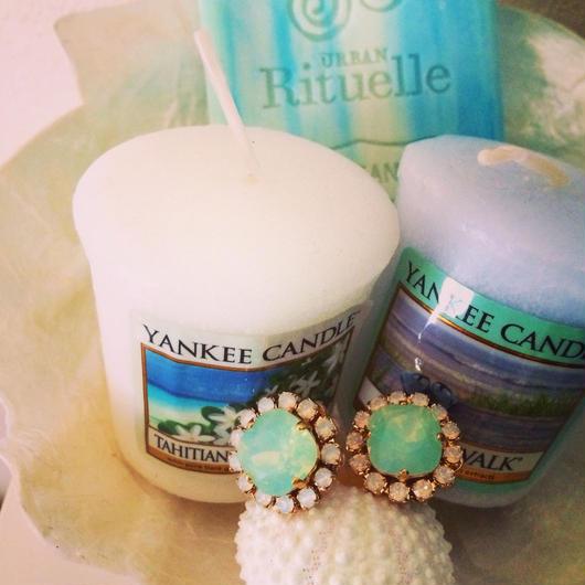 turquoise bijou earrings...❤︎