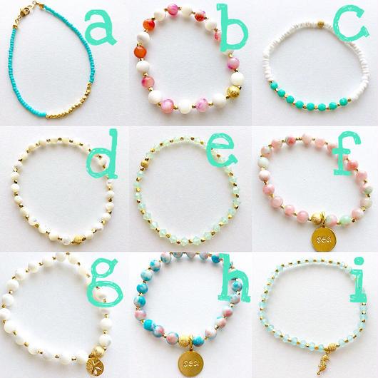 beach bracelets...❤︎