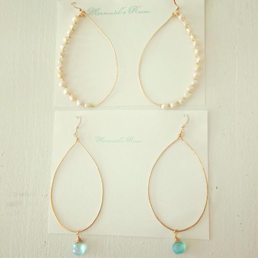 K14GF hand hammered hoop earrings...❤︎
