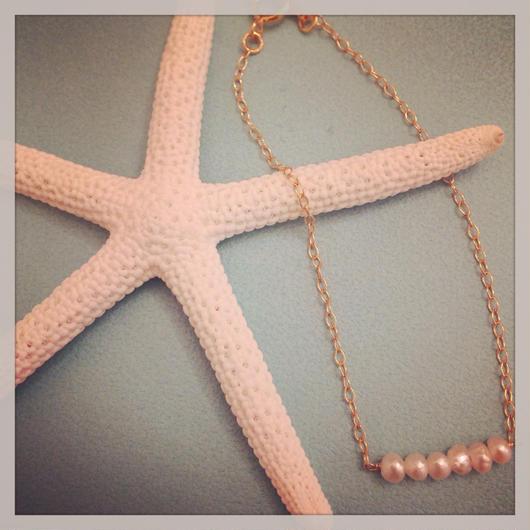 K14GF fresh pearl bracelet...❤︎