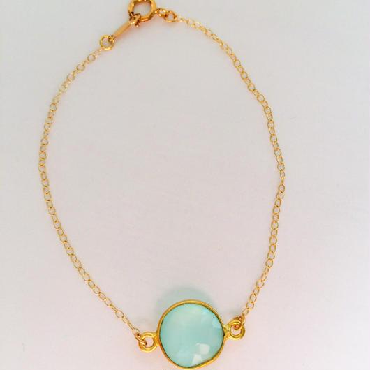 K14GF sea calcedony bracelet...❤︎