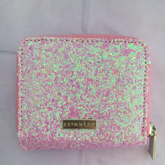 pink glitter purse