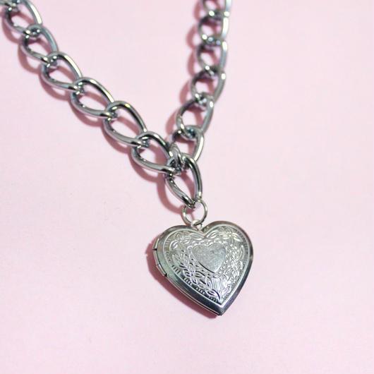 ハートロケットペンダントチェーンネックレス/Heart Rocket Chain Necklace