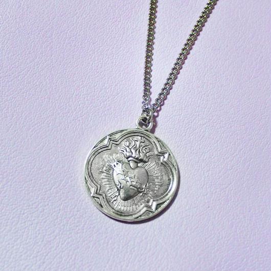 コラソンメダルネックレ(シルバー)/ Corazon Medal Necklace(Silver)