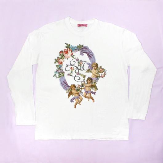 エンジェルフラワーシャツ(ホワイト)/Angel Flower Shirt (White))