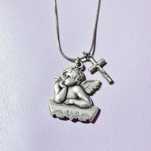 エンジェルクロスネックレス/ Angel Cross Necklace