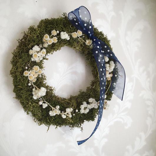 """moss Wreath """"classical dot"""""""