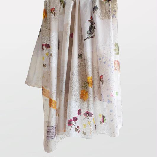 "MIFUNE コットンBIGスカーフ ""dusty flower scarf"""