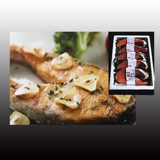送料無料!漁師直送 冬の厳選ギフト - 鮭ステーキ 5パック