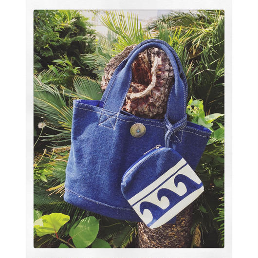 DENIM WAVE BAG