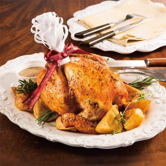 【お届け】【クレジットカード決済】岩手清流鶏のローストチキン 4~6名様用 重さ:約1.4kg 配送時間のご希望がある方はご希望の時間帯を備考欄にご入力ください。