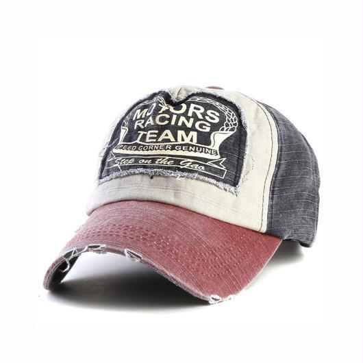 MOTORS TEAM キャップ ビンテージクラッシュスタイル CAP