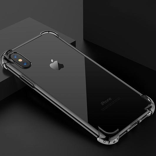 iphone Xケース コーナーエアープロテクター ソフト 透明