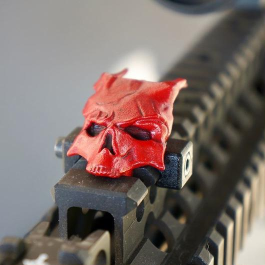 Top Rail Daemon Skull