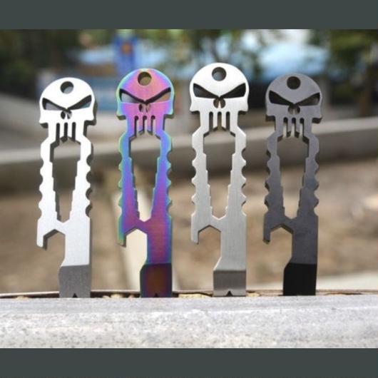 Punisher titanium bottle opener