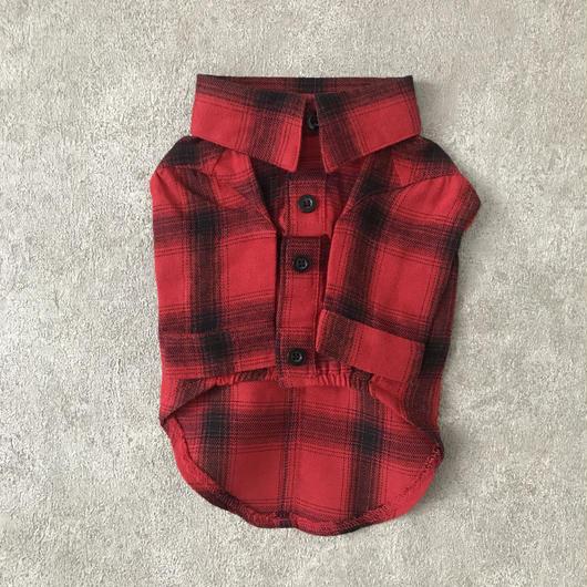 check shirt . [ red ]