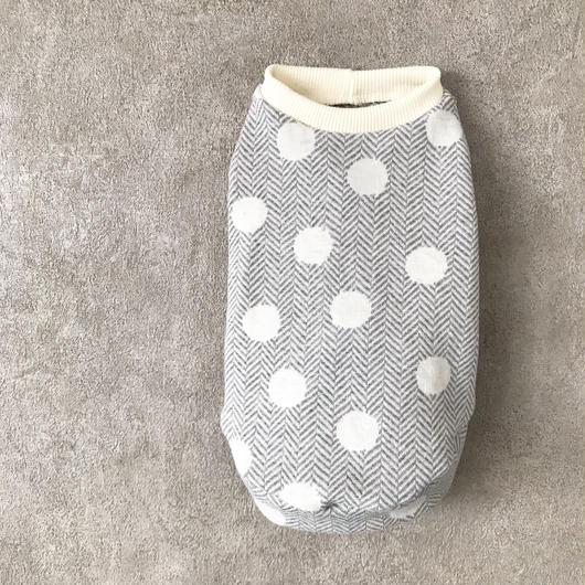 ORIGINAL dot tank top . [ gray  XS , S , M ]