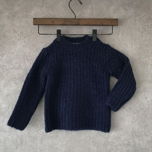 KIDS  basic  knit  . [ navy  ]  男女兼用