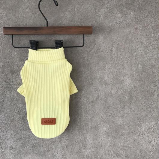 PET lib knit tops ♣︎ イエロー