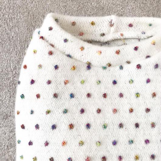 ORIGINAL mulchdot knit tank .  [white  XS , S , M ]